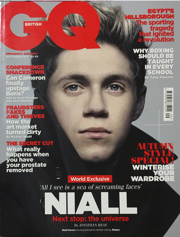 GQ British UK Magazine September 2013 NIALL HORAN One Direction