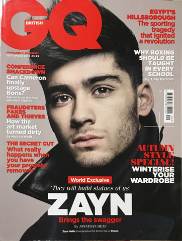 GQ British UK Magazine September 2013 ZAYN MALIK One Direction