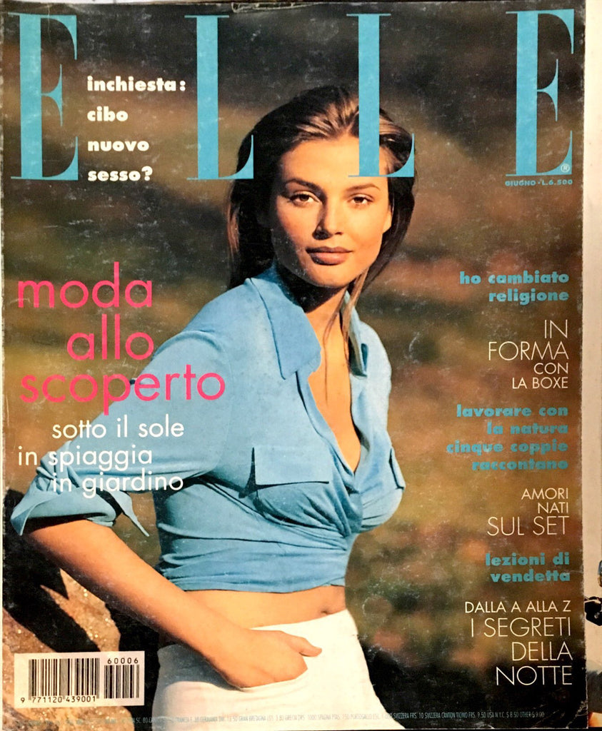 ELLE Italia Magazine June 1996 BRIDGET HALL Vanessa Lorenzo ESTELLA WARREN Stephanie Seymour