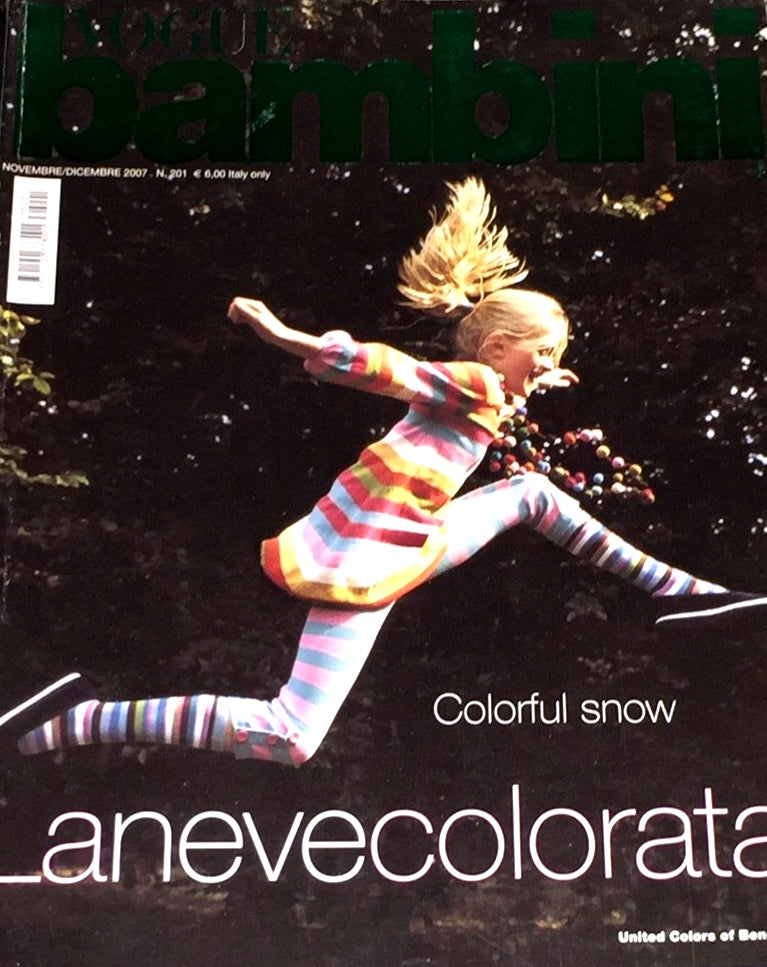 VOGUE BAMBINI Kids Children Enfant Fashion ITALIA Magazine November 2007
