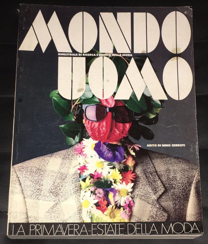 MONDO UOMO Magazine January 1985 With English text ITALIAN Fashion