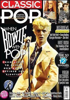 CLASSIC POP Magazine 2013 DAVID BOWIE Kate Bush BELINDA CARLISLE Kim Wilde