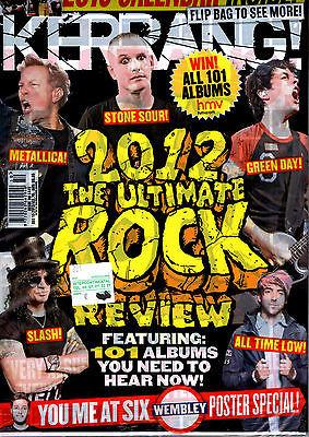 KERRANG magazine 2012 METALLICA Green Day BLACK SABBATH Slash + Poster + Calendar
