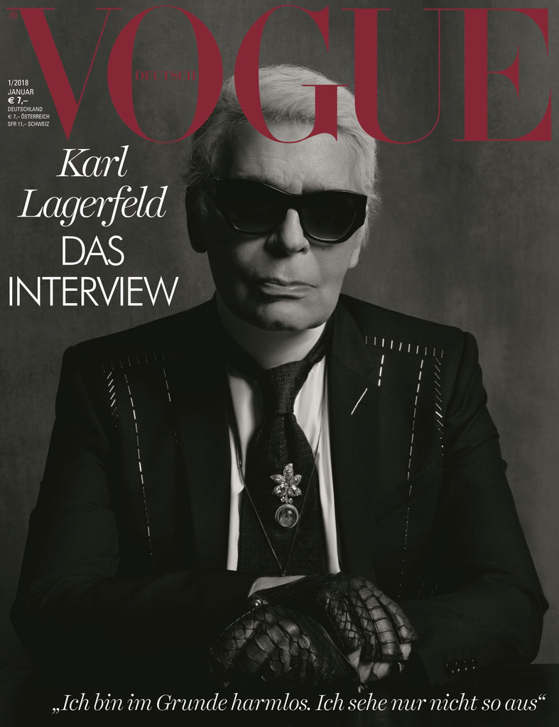 VOGUE Germany Magazine January 2018 KARL LAGERFELD Gigi Hadid ANNA CLEVELAND