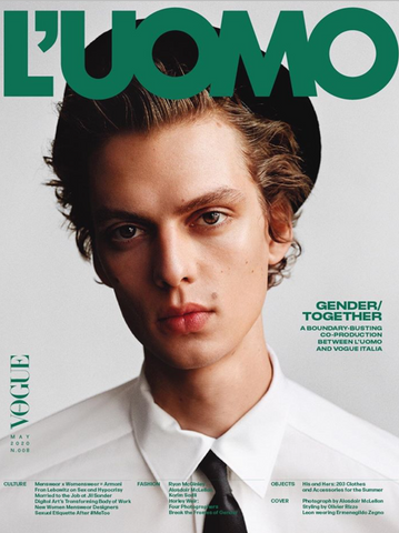 L'Uomo Vogue Magazine May 2020 LEON DAME Kaia Gerber FRAN LEBOWITZ Brand New