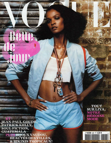 VOGUE Paris Magazine May 2002 LIYA KEBEDE Eva Herzigova CORINNE DAY Malgosia Bela