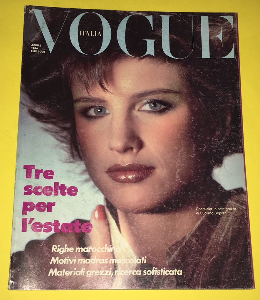 VOGUE Italia Magazine April 1984 LISE BRAND Gail Elliott PETER LINDBERGH
