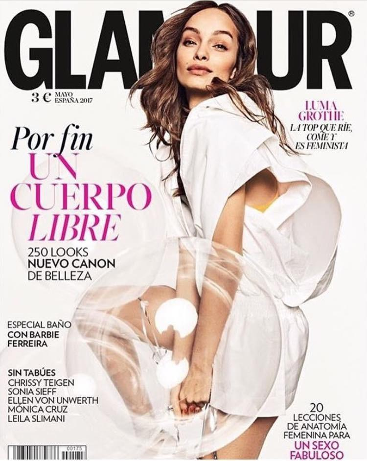 GLAMOUR Spain Magazine May 2017 LUMA GROTHE Chrissy Teigen BARBIE FERREIRA