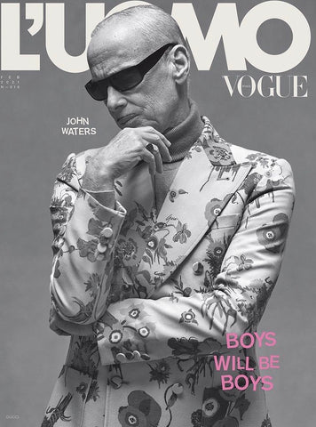 L'Uomo Vogue Magazine February 2021 JOHN WATERS by ETHAN JAMES GREEN New