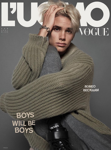 L'Uomo Vogue Magazine February 2021 ROMEO BECKHAM by MERT & MARCUS