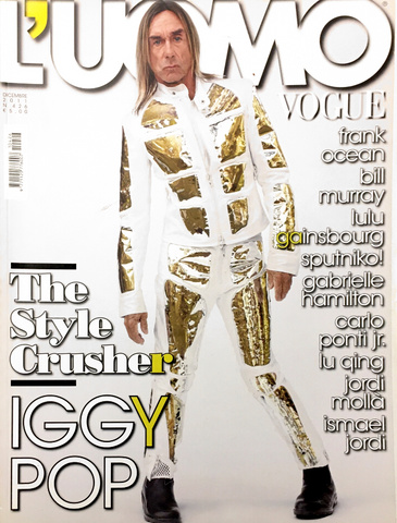 L'UOMO VOGUE Magazine December 2011 IGGY POP Lulu Gainsbourg FRANK OCEAN