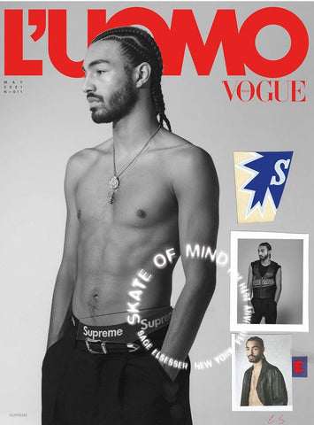 L'Uomo Vogue Magazine May 2021 SAGE ELSESSER Brand New COVER 2