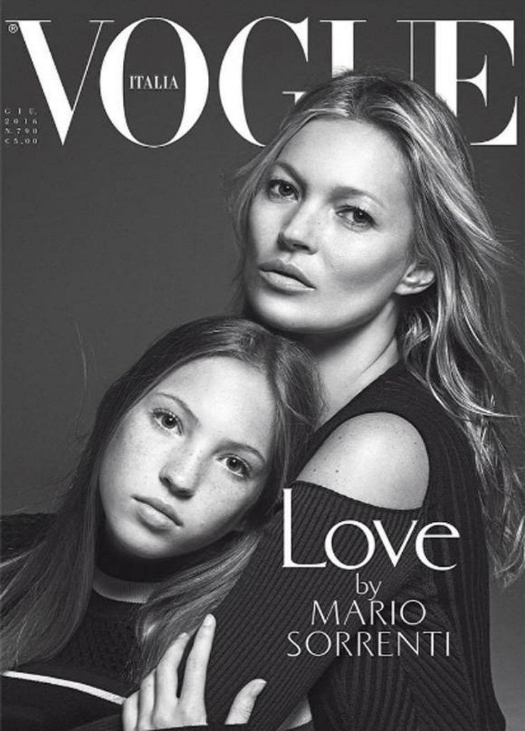 VOGUE Italia Magazine June 2016 KATE MOSS Lila Grace By Mario Sorrenti