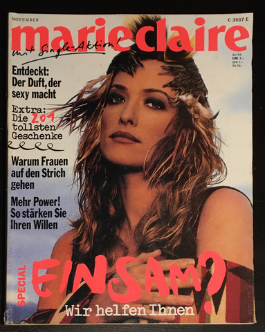 MARIE CLAIRE Germany Magazine November 1993 TATJANA PATITZ Kirsten Owen