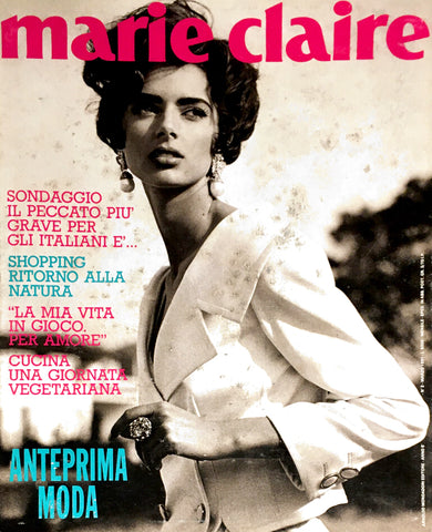 MARIE Claire Italia Magazine March 1991 HEATHER STEWART WHYTE Yasmin Le Bon