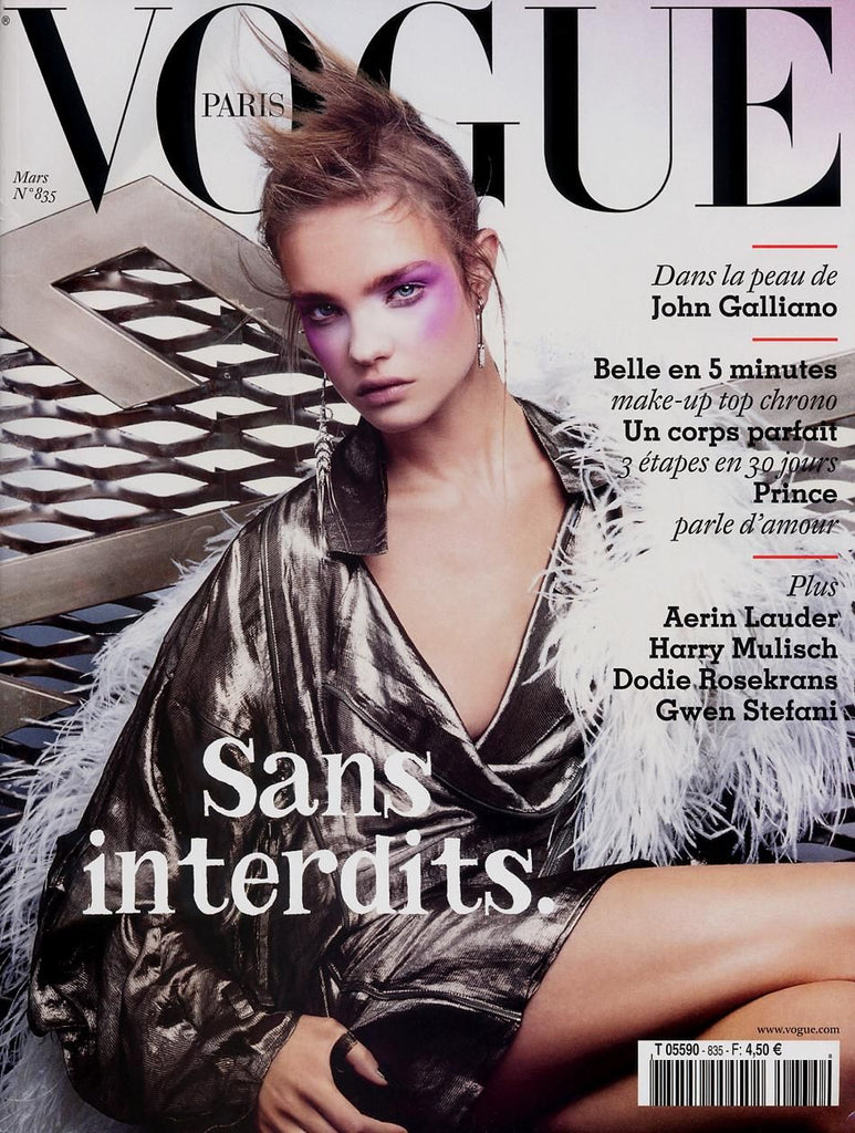 VOGUE Paris Magazine March 2003 NATALIA VODIANOVA Anna Cleveland DEWI DRIEGEN