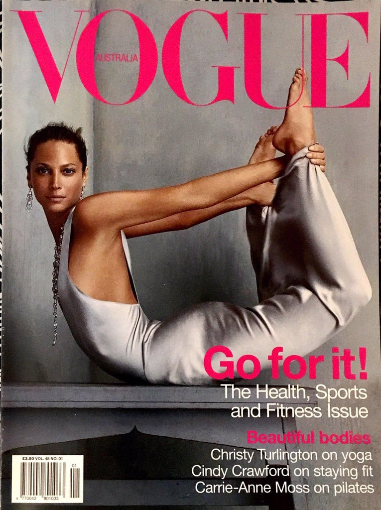 VOGUE Australia Magazine January 2003 CHRISTY TURLINGTON Cindy Crawford MAY ANDERSEN