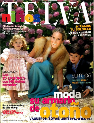 TELVA NINOS Kids Children Bambini Enfant SPANISH Fashion Magazine OCTOBER 2009