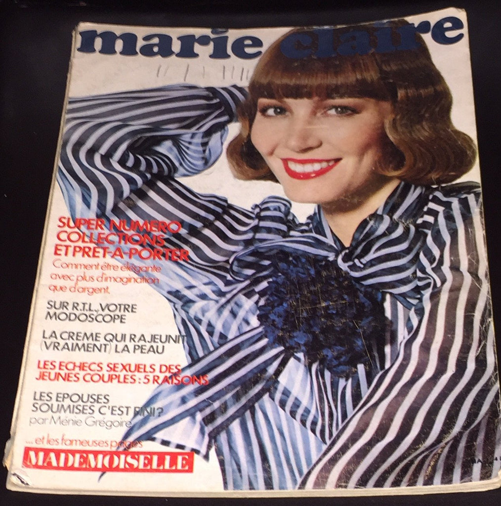 Vintage Marie Claire France magazine March 1974 HELMUT NEWTON Steve Hiett - magazinecult