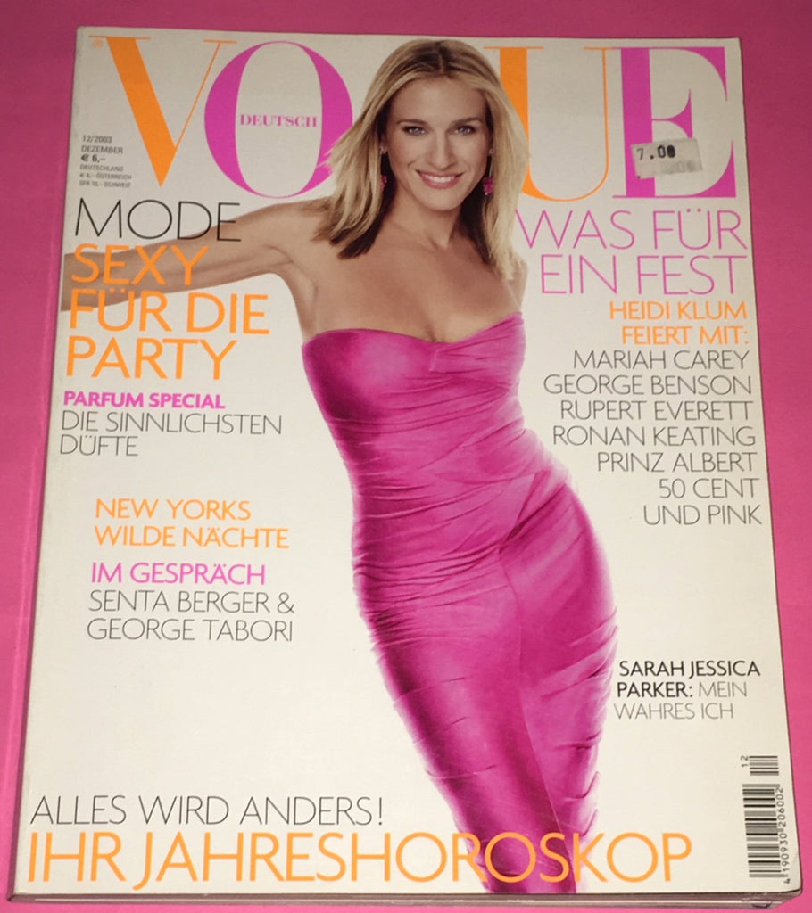 VOGUE Germany Magazine December 2003 SARAH JESSICA PARKER Heidi Klum