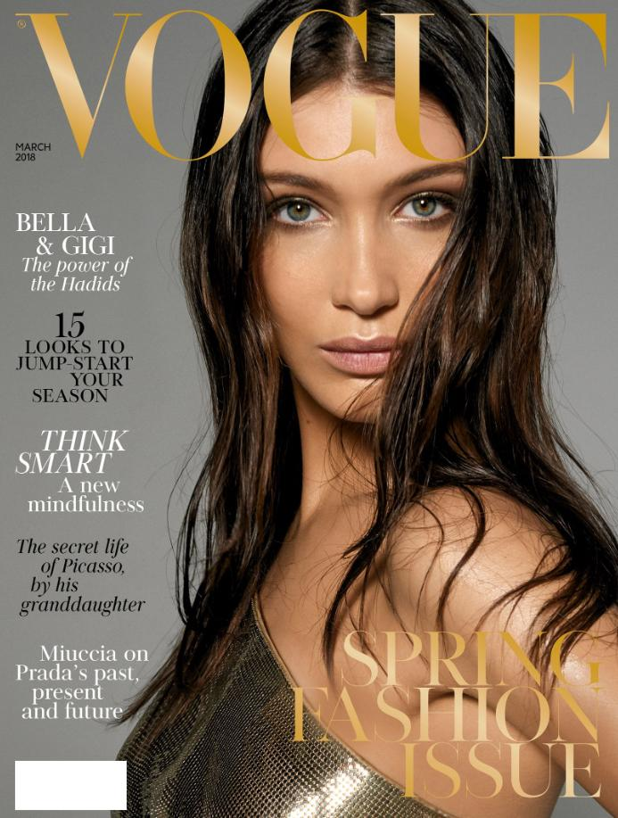 VOGUE UK Magazine March 2018 BELLA HADID Kaia Gerber HELEN MIRREN Luna Bijl