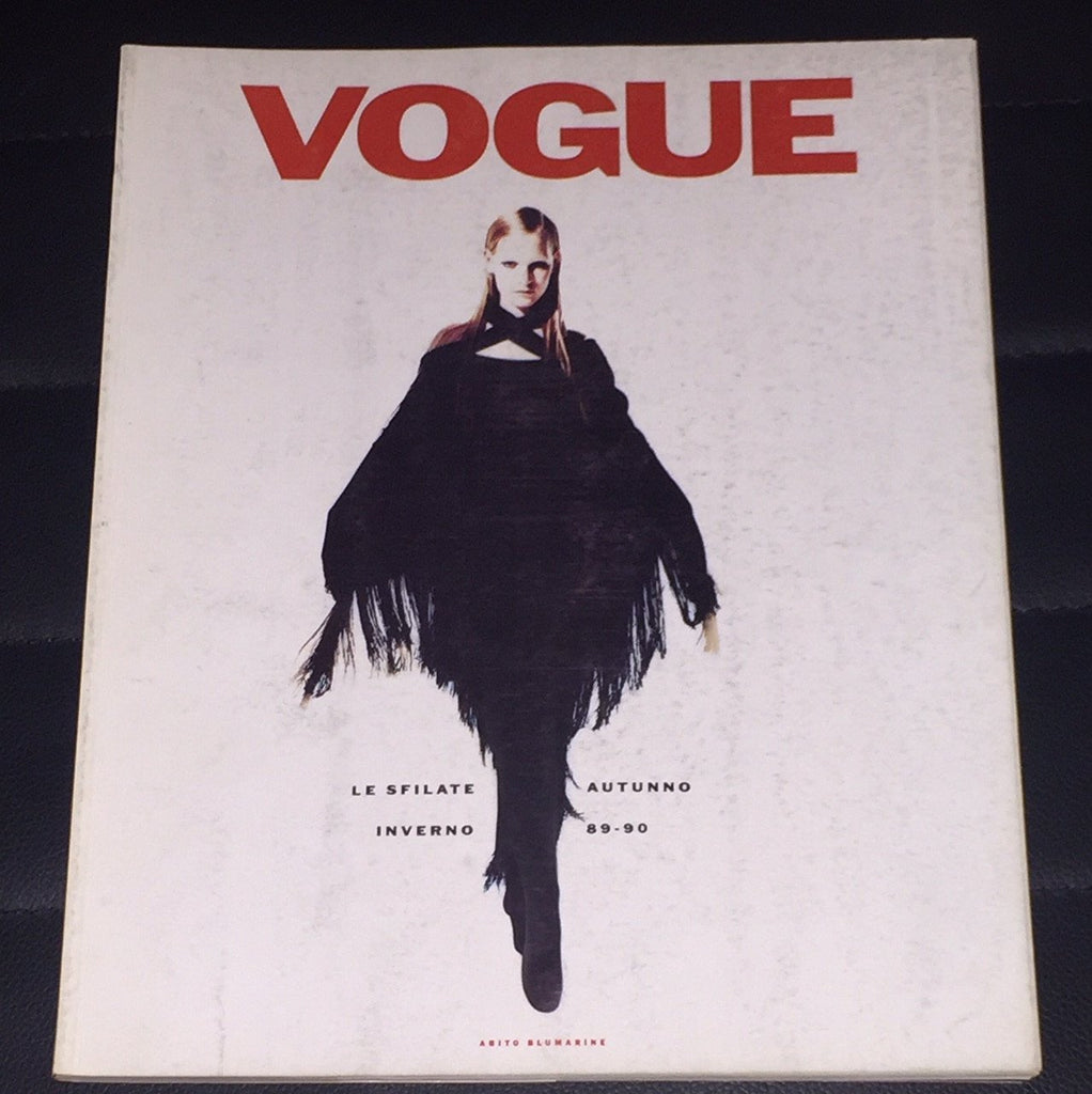 VOGUE Italia Magazine KIRSTEN OWEN Dossier Sfilate PRET A PORTER July 1989