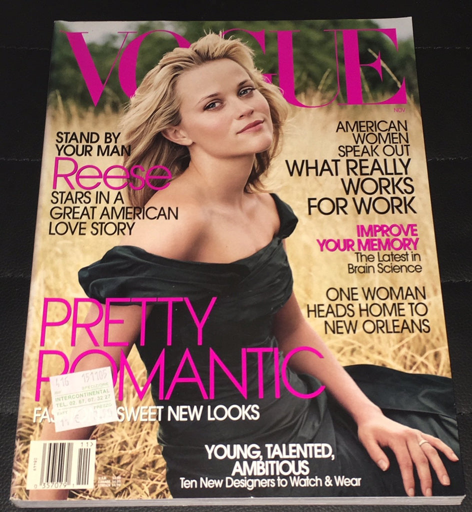 VOGUE US Magazine November 2005 REESE WITHERSPOON Gemma Ward JOSH HARTNETT