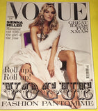 VOGUE UK Magazine December 2004 SIENNA MILLER Jessica Miller ANGELA LINDVALL Lily Cole