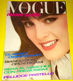 VOGUE Italia Magazine October 1980 ESME MARSHALL Leslie Winer MARIE HELVIN Susan Hess