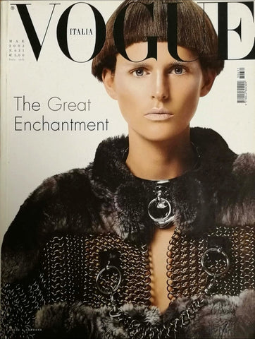 VOGUE Italia Magazine March 2003 STELLA TENNANT Linda Evangelista NATALIA VODIANOVA
