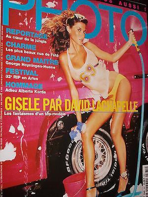PHOTO PARIS vintage magazine 2001 Gisele Bundchen by David Lachapelle