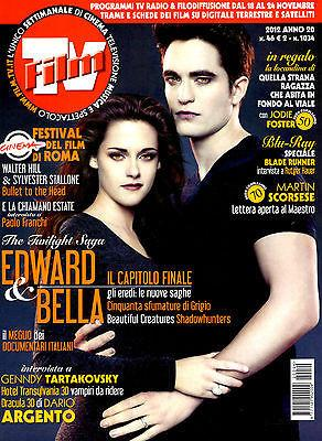 FILM TV italia Magazine November 2012 ROBERT PATTINSON Kristen Stewart TWILIGHT