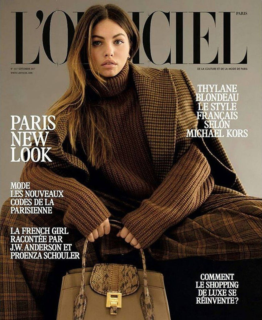 L'OFFICIEL Paris Magazine September 2017 THYLANE BLONDEAU Angele Metzger ADELE FARINE