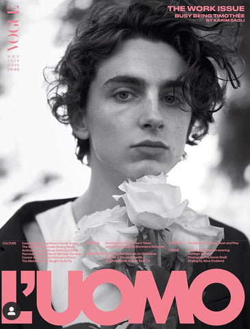L'Uomo Vogue Magazine October 2019 Timothée Timothee Chalamet
