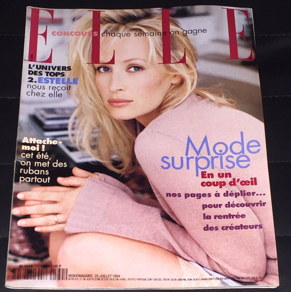 ELLE France Magazine July 1994 ESTELLE LEFEBURE Nina Brosh LAETITIA CASTA