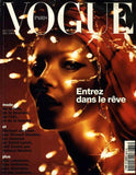 VOGUE Paris Magazine December 2001 KATE MOSS Liya Kebede MAGGIE RIZER