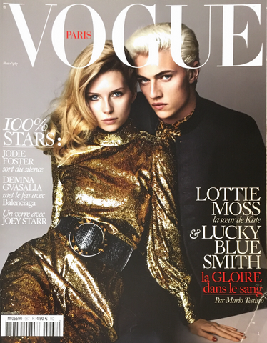 VOGUE Paris magazine May 2016 LOTTIE MOSS Lucky Blue Smith ISABELI FONTANA Anna Ewers