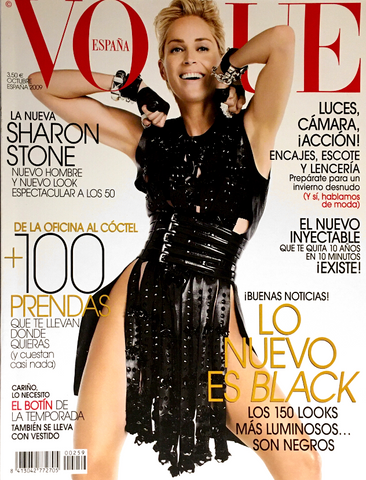 VOGUE Spain Magazine October 2009 SHARON STONE Masha Novoselova