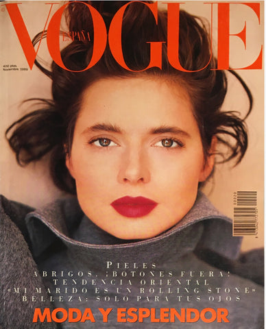 VOGUE Spain Magazine December 1989 ISABELLA ROSSELLINI Robyn Mackintosh LESLIE WINER