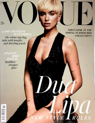 VOGUE UK Magazine February 2021 DUA LIPA Tilda Swinton RIANNE VAN ROMPAEY