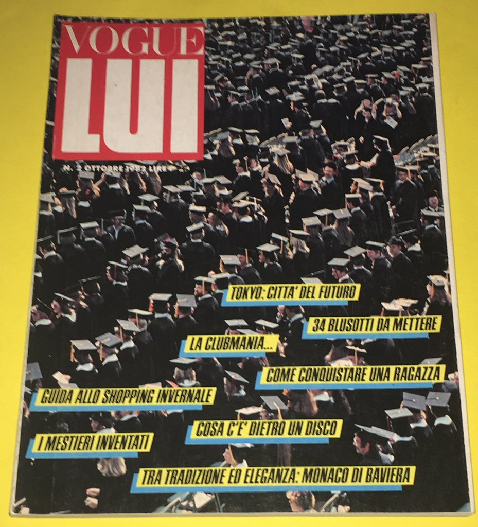 VOGUE LUI Vintage Magazine October 1982 Early DAVID DUCHOVNY Male Models