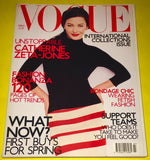 VOGUE UK Magazine March 2001 ZETA JONES Kate Moss BRIDGET HALL Fernanda Tavares