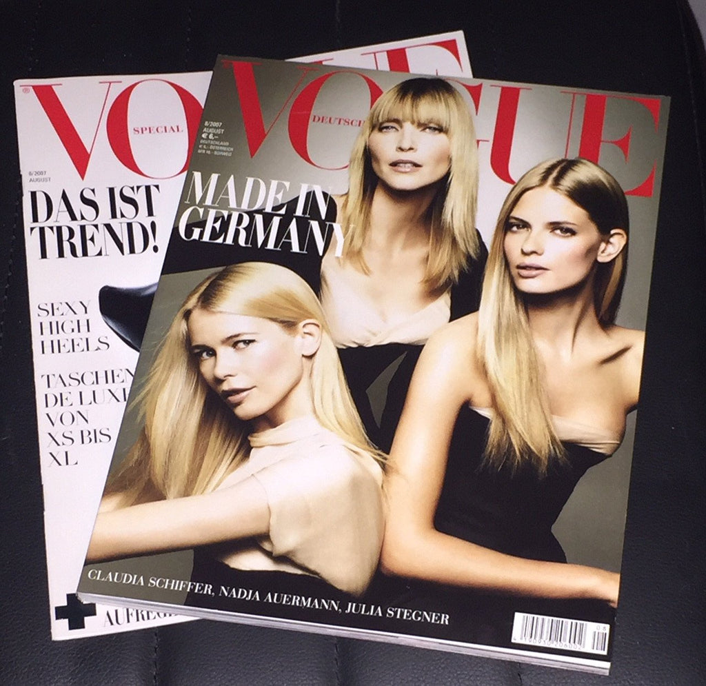 VOGUE Germany Magazine August 2007 CLAUDIA SCHIFFER Cintia Dicker ALYSSA MILLER