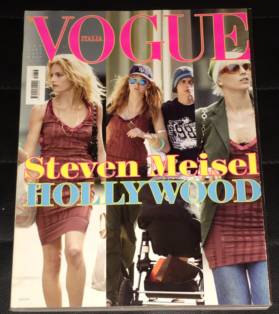 VOGUE Italia Magazine January 2005 Hollywood Style by Steven Meisel BRUCE WEBER