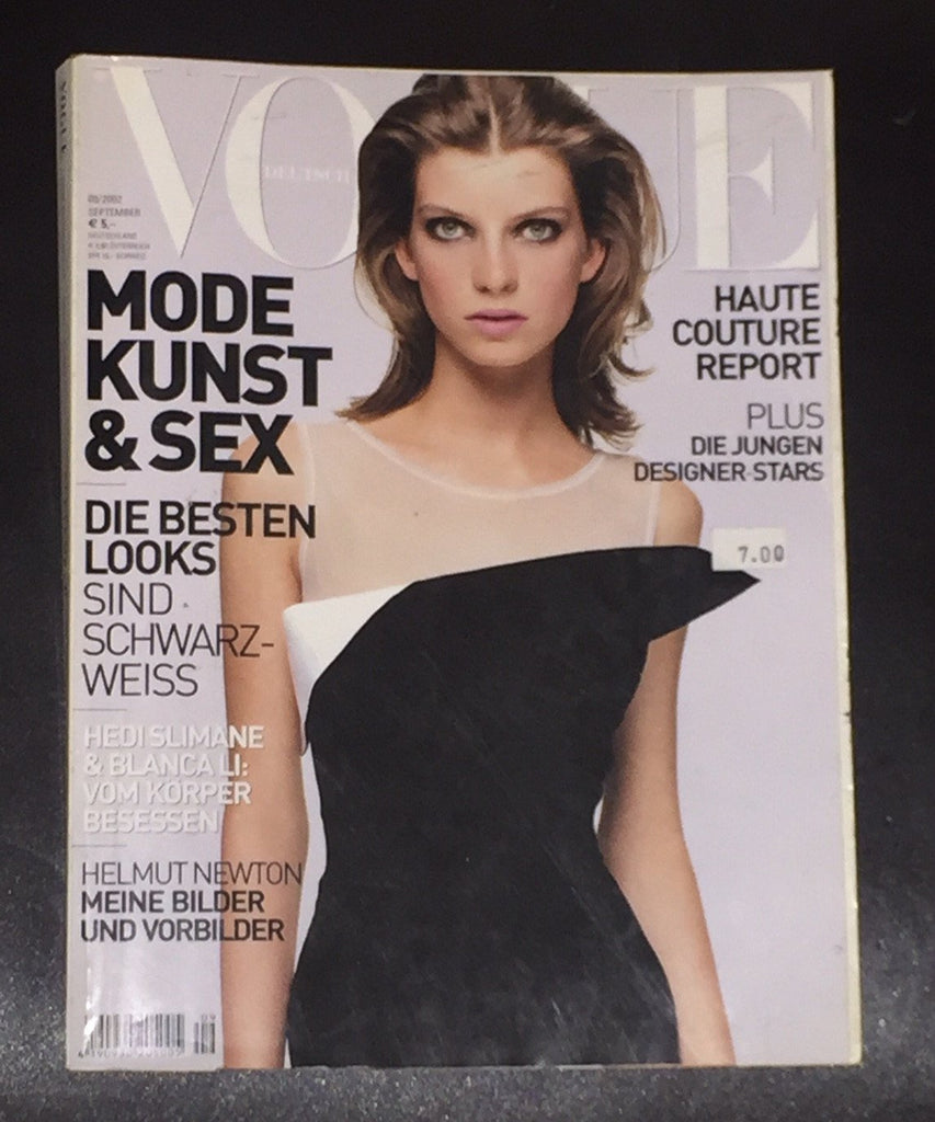 VOGUE Germany Magazine September 2002 LUCA GADJUS Helmut Newton - magazinecult