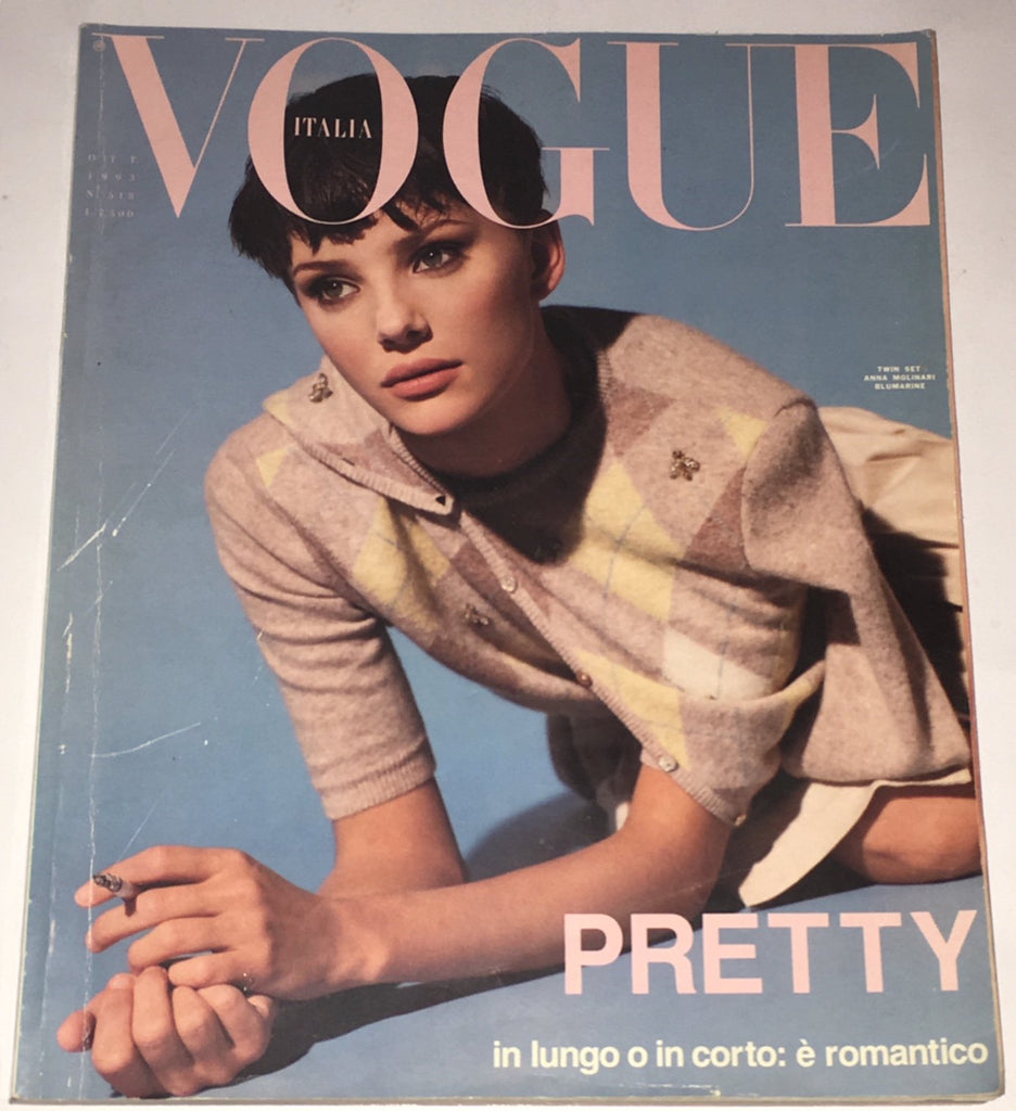 VOGUE Italia Magazine October 1993 JAIME RISHAR Helena Christensen PATTI HANSEN
