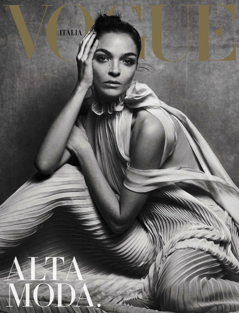 VOGUE Italia Magazine March 2017 ALTA MODA Mariacarla Boscono ANNA CLEVELAND Lily Rose