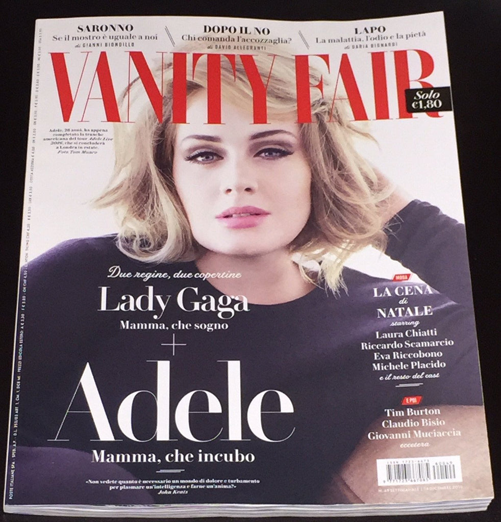 VANITY FAIR Italia Magazine December 2016 ADELE Lady Gaga