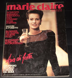 Marie Claire Magazine Italy December 1987 Meghan Douglas CARLA BRUNI Kevin Costner FAYE DUNAWAY