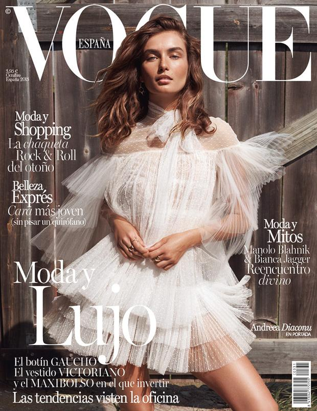 VOGUE Spain Magazine October 2015 ANDREEA DIACONU Karmen Pedaru SARAH BRANNON